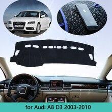 Deska rozdzielcza samochodu chroń dywan klosz do Audi A8 D3 2003 ~ 2010 4E mata na deskę rozdzielczą Cape anty-brudny parasol przeciwsłoneczny Dashmat Automotive interior