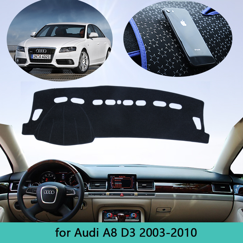 Car Dashboard Protect Carpet Cover For <font><b>Audi</b></font> <font><b>A8</b></font> <font><b>D3</b></font> 2003~2010 <font><b>4E</b></font> Dash Mat Cape Anti-dirty Sun Shade Dashmat Automotive interior image