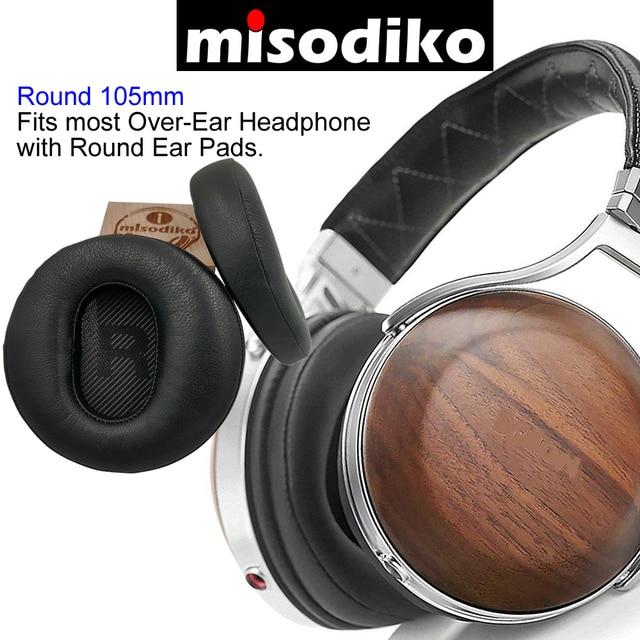 misodiko [Lambskin Leather]  Headphones Replacement Ear Pads Cushions for Denon AH D7200 AH D9200 AH D5200 AH D5000 AH D7000