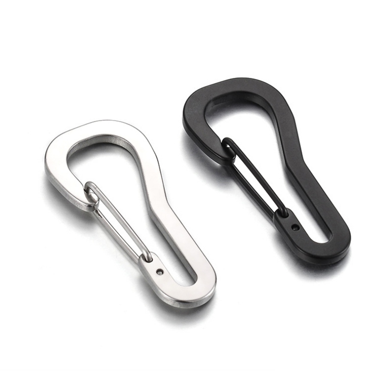 EDC Stainless Steel Carabiner Key Chain Clip Hook Buckle Keychain Outdoor Tool