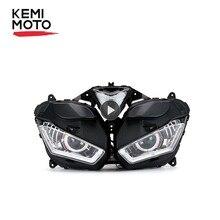 KEMiMOTOสำหรับYAMAHA YZF R25 R3 2013 2017ไฟหน้ารถจักรยานยนต์Angel Demon Eyeไฟหน้าโปรเจคเตอร์HID R25 R3 HID angel Eye