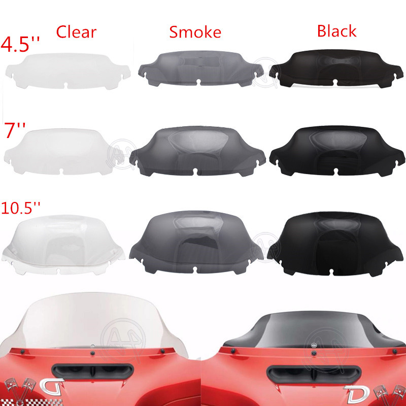 "Black/Smoke/Clear4.5 7""10.5 Windshield Fairing Windscreen Cover For Harley Electra Street Glide Touring 2014 up 2015 2019Windscreens & Wind Deflectors   -"