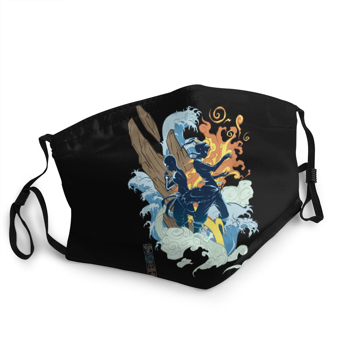 <font><b>Avatar</b></font> The Last Airbender Unisex Non-Disposable Mouth Face <font><b>Mask</b></font> Anti Haze Dust <font><b>Mask</b></font> Protection <font><b>Mask</b></font> Respirator Mouth Muffle image