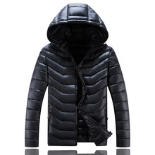 2019 New Medium Long Hooded Mens Winter Coat Thick Big Size Jacket Men Waterproof