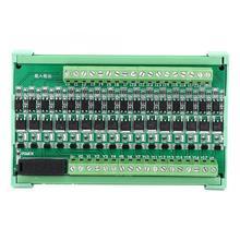 16 Channel PLC Relay Board Amplifier Board Isolation Relay Board Input NPN Output NPN 12-36V DC Programmable Logic Controller