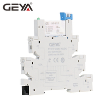 цена GEYA Slim Relay Module Protection Circuit 6A Relay 12VDC/AC or 24VDC/AC Relay Socket 6.2mm thickness 12V Relay онлайн в 2017 году