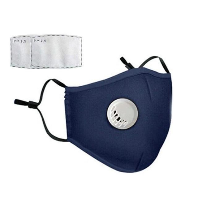 Safety Dust Mask+2 Filters Easy Breathe Reusable Washable Face Mask Anti Virus Gardening Travel PM2.5 Mask