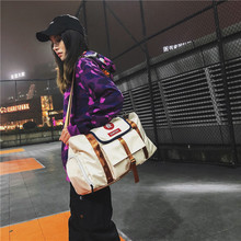 Travel bag for women portable large capacity shoulder luggage fitness sports with shoes compartment