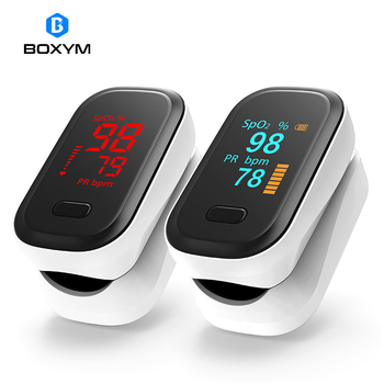 BOXYM Medical Portable Finger Pulse Oximeter blood oxygen Heart Rate Saturation Meter OLED Oximetro de dedo Saturometro Monitor