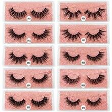 Mink Eyelashes False Fluffy Lashes Bulk Fake Eyelashes Package Natural Eyelash Bulk Wholesale Eye Lashes mink