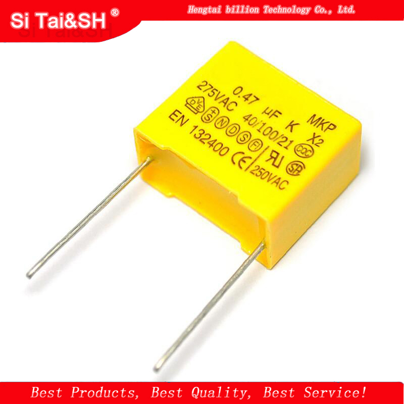 10pcs X2 Safety Capacitor 15mm 275VAC 275V 0.022UF 0.047UF 0.1UF 0.15UF 0.22UF 0.33UF 0.47UF 0.68UF 1UF Polypropylene Film