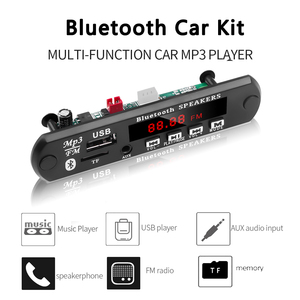Image 3 - KEBIDU פענוח לוח מודול Bluetooth MP3 LED 12V DIY USB TF רדיו FM מודול אלחוטי Bluetooth מפענח שיא MP3 נגן