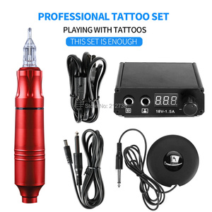 Image 5 - Professionale Rotativa Del Tatuaggio Della Penna Del Tatuaggio Kit Macchina Mini Power Set Tattoo Studio Supplies C0