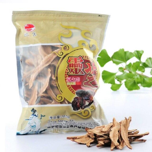 Новая зеленая еда, 250 г, китайский полезный чай, сушеный чай Lingzhi Red Reishi, грибы, Ганодерма, лучидовые ломтики, травы, чай Lingzhi