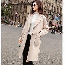 Giacca donna cappotto cappotto di lana per donna cappotto allentato primavera e autunno Veste Manteau Femme