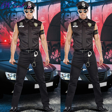 Clothing Instructor-Uniform Police Playing Halloween Temptation Stage Role Men's