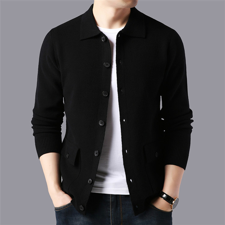 Winter Mens Black Sweaters Long Sleeve Knitted Cardigan Men Autumn Casual Knitwear Oversized Sweater Boys Knitted Top Male 3xl