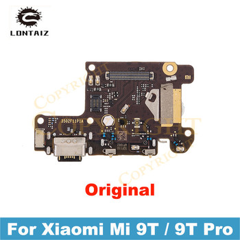 100% Original Mi 9T Pro Charging Port PCB Board USB Charge Dock Connector with Microphone Flex Cable For Xiaomi Redmi K20 Pro