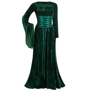 Long Sleeve Maxi Dress Vintage Long Sleeve Floor Length Dress Elegant Elven Dress Vintage Plus Size 5XL Women Party Long Dresses
