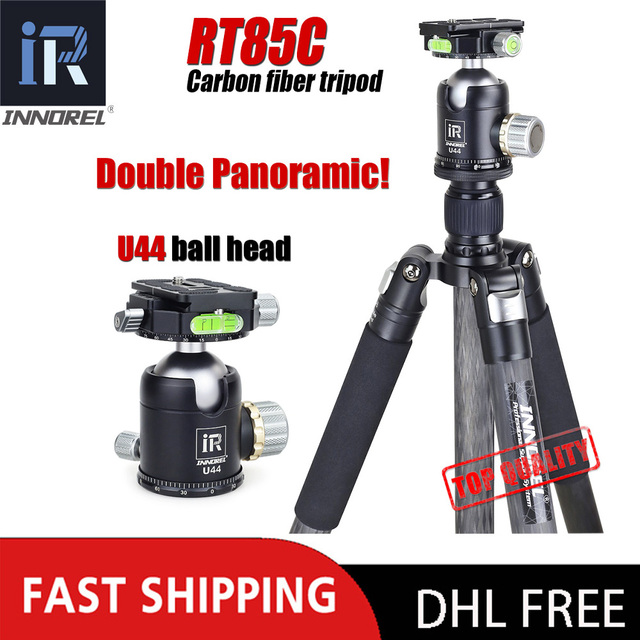 INNOREL RT85C 25KG bear carbon fiber tripod for digital DSLR camera heavy duty Monopod Professional double panoramic ball head