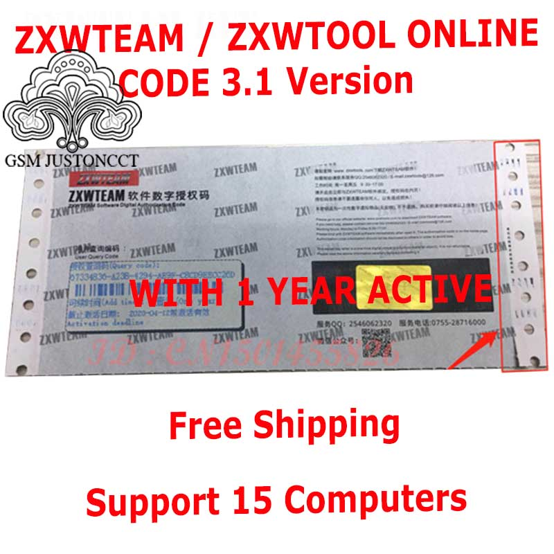 Original BlackFish Online ZXW Team Software Digital Authorization  Code Zillion X Work Software Circuit Diagram For IPhone IPad