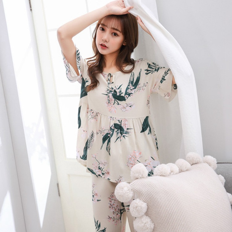 Xiekui Seconds Cooling Cotton Silk Good Quality Air Conditioning Clothes Breathable No Deformation Faux Silk Pajamas Homewear Se