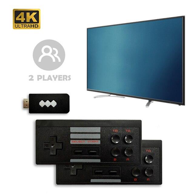 Mini Retro konsola kontroler bezprzewodowy kompatybilny z HDMI podwójny odtwarzacz 4K AV gra wideo konsola wbudowana w 568/600 klasyczne gry