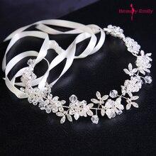Hot White Handmade Crystal Headdress Bridesmaid Wedding Wreath Bridal Headband Rhinestone