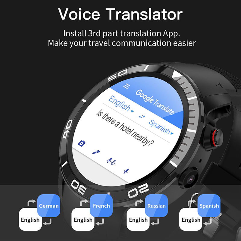 ESEED H8 4G GPS WIFI Smartwatch men IP68 waterproof 5MP Camera 16GB/ROM support Nano SIM Heart Rate Monitor for android ios - 5