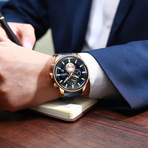 Image 4 - CURREN Mens Watches Quartz Watch with Stainless Steel Band Chronograph Luminous hands Clock Male Wristwatch Mens Fashion