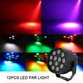 12 светодиодный rgb dmx 512 свет этапа 8CH Голосовое управление KTV для дискобара вечерние Номинальный DJ шоу лампы