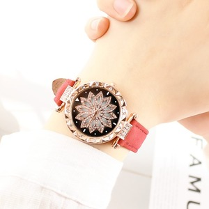 Image 5 - נשים כוכבים בשמי שעון יוקרה רוז זהב יהלומים שעונים גבירותיי מקרית רצועת עור קוורץ שעוני יד נקבה שעון zegarek damski