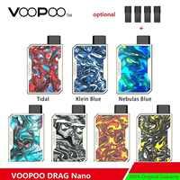 ¡Versión actualizada! VOOPOO arrastrar Nano Pod Kit W/batería de 750mAh y 1,0 ml arrastrar Nano Pod cartucho de E-cig Vape Kit del arrastre/Mini/DRAG 2