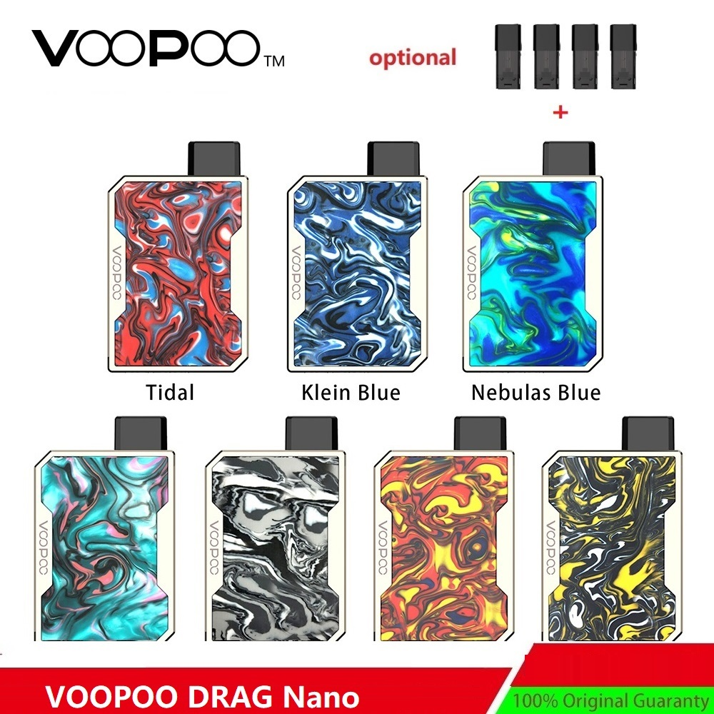 With Necklace !! VOOPOO DRAG Nano Pod Kit Wi/ 750mAh Battery & 1.0ml DRAG Nano Pod Cartridge E-cig Vape Kit VS Drag Mini/ Drag 2