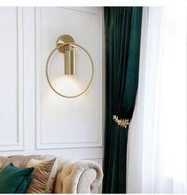Роскошный медный настенный светильник в стиле пост модерн дизайнерский