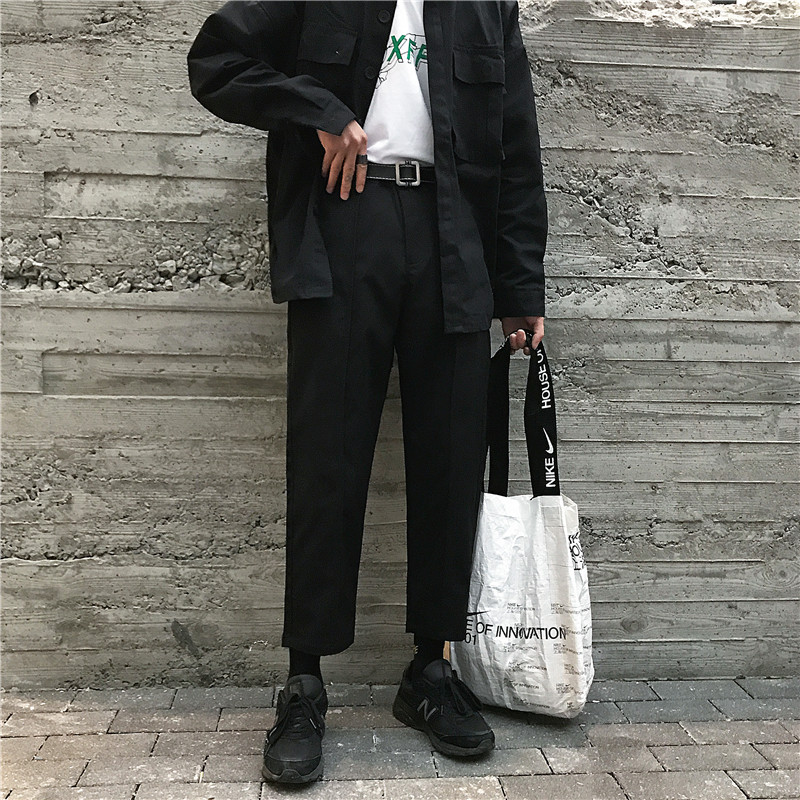 2019 Summer Japanese Style Men's New Pattern Leisure Casual Pants Western-style Trousers Male Black/khaki Color Suit Pants M-2XL