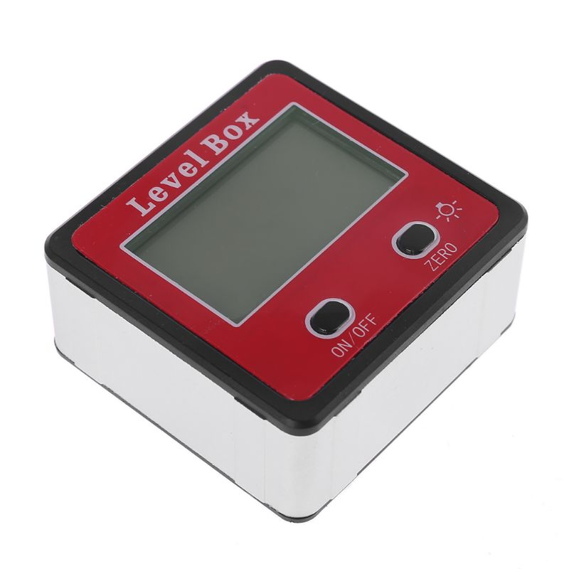 Digital Inclinometer Spirit Level Protractor Angle Gauge Meter Bevel Level Box With Magnet