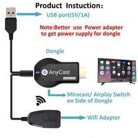 1080P Drahtlose WiFi Display TV Dongle Empfänger für AnyCast M2 Plus für Airplay 1080P HDMI TV Stick für DLNA Miracast-in Funkadapter aus Verbraucherelektronik bei