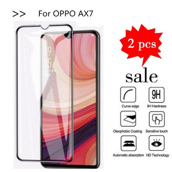 9H 2.5D Tempered Glass For OPPO AX7 Full Screen Coverage Protective Film For OPPO AX7 CPH1901 CPH 1901 Screen Protector image