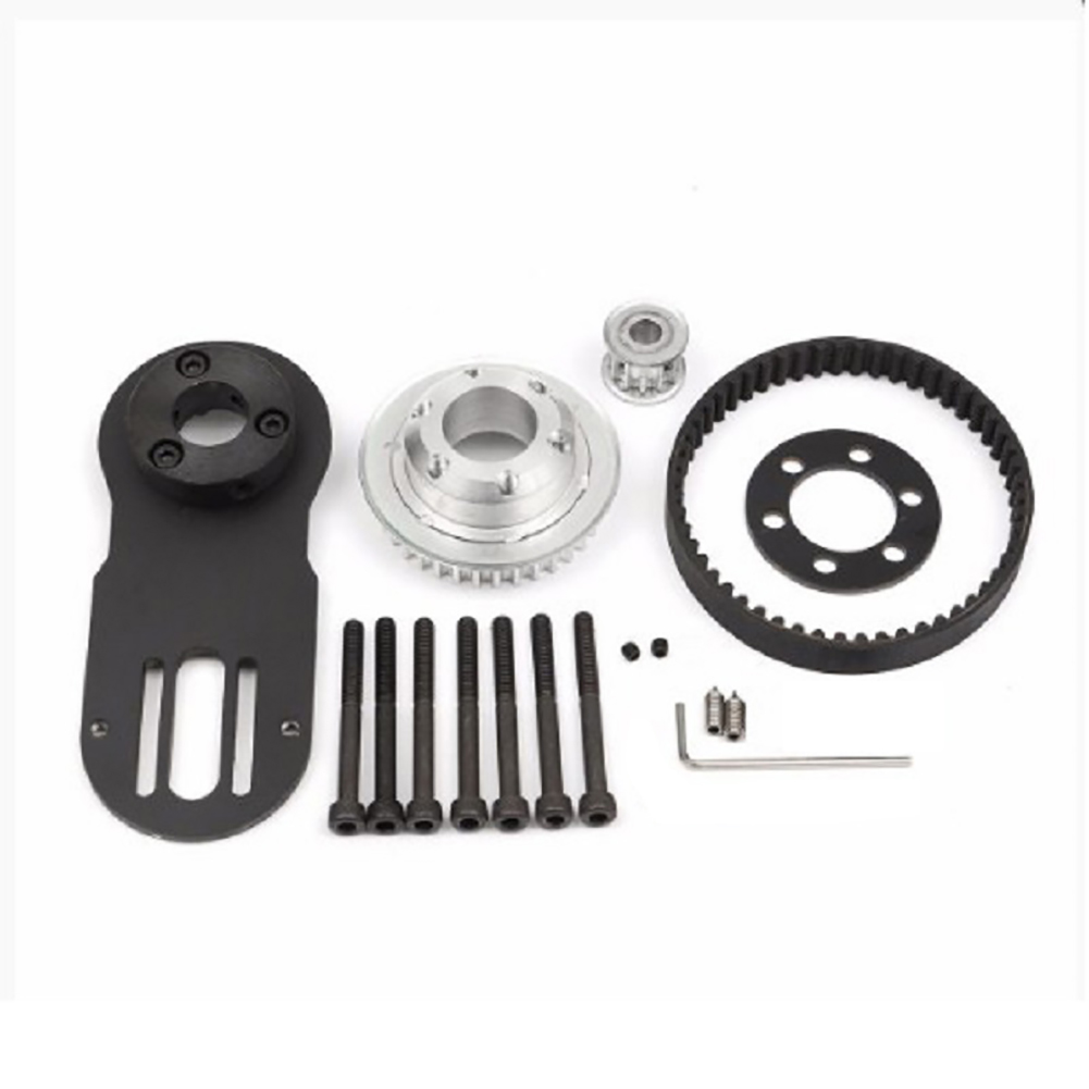 90mm Electrical Skateboard 1800W Motor 5M Gear 270mm Belts Kit And Motor Mount Parts Riserpad Skateboard Accessories