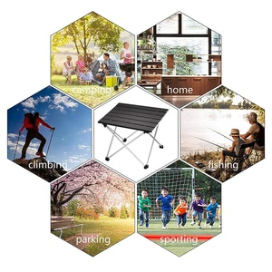 Image 3 - Portable Folding Camping Table Aluminum Desk Table Top Suitable for Outdoor Picnic Barbecue Cooking Holiday Beach Hiking Traveli