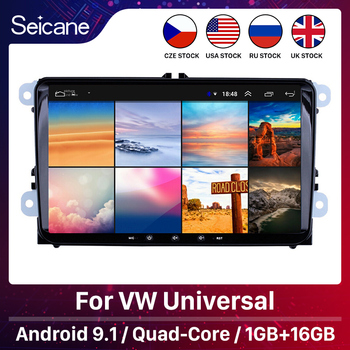 Seicane Android 9.1 2Din Car Multimedia player For VW/Volkswagen/Golf/Polo/Tiguan/Passat/b7/b6/SEAT/leon/Skoda/Octavia Radio GPS image