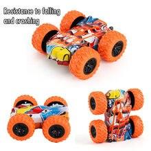 Crianças carro brinquedos caminhão inércia-duplo lado dublê graffiti carro bebê meninos super carro fora da estrada modelo veículo crianças presente brinquedos # y30