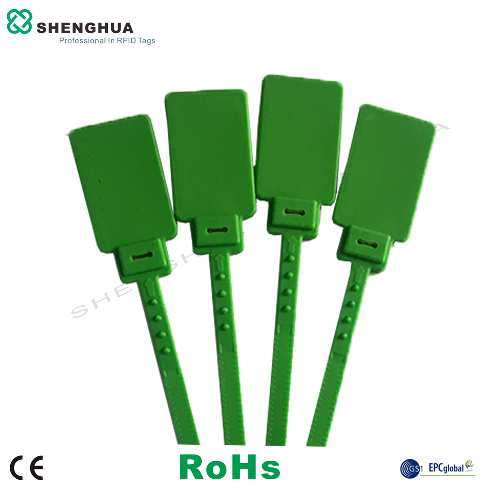 10pcs/pack OEM Self-locking Hose Ties Extinguisher Plastic Seal Uhf Rfid Flag Cable Tie Tag Long Range Reading For Warehouse