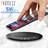 !ACCEZZ QI Wireless Charger For iphone X 8 Plus XR 11 Pro XS MAX Charge Pad With Micro Usb Cable For Samsung Galaxy S9 S10 S8 S7
