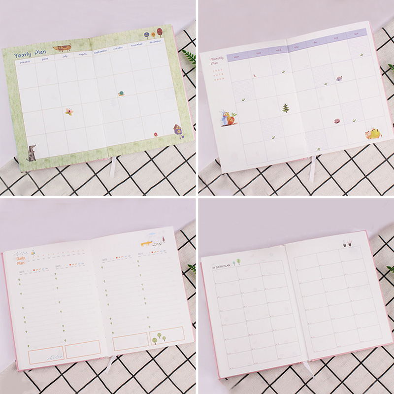 365 Days Cute List Diary NoteBook Planner Colorful Inner Page Notepad Daily Plan Yearly Agenda  School Office Stationry 5