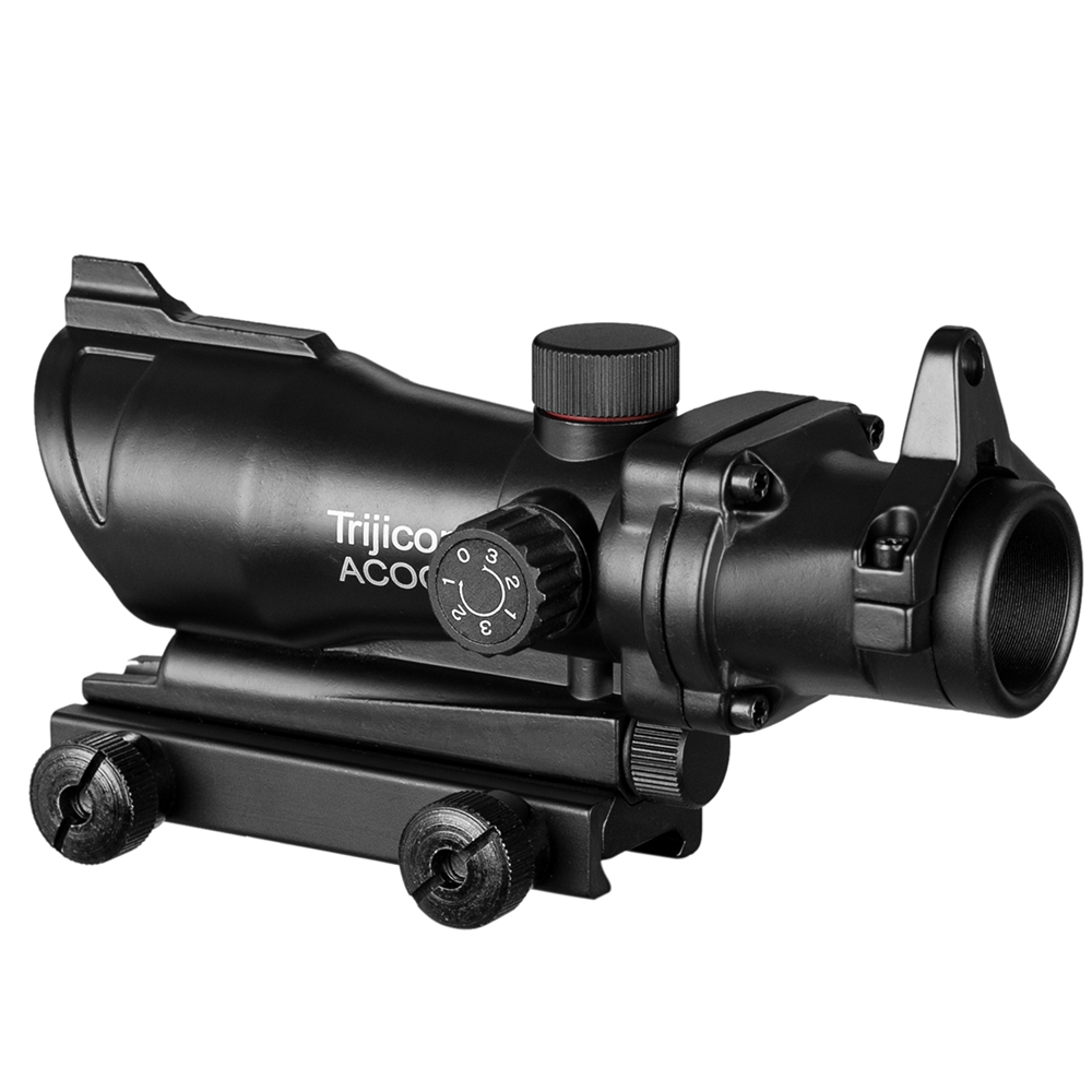 Jagd Zielfernrohr ACOG 1X32 Rot Grün Kreuz Anblick Taktische Optische Zielfernrohre für Airsoft Gun Fit 20mm schiene