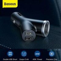 Baseus Auto Ladegerät 40W Doppel USB Shunt Für iPhone X Xiaomi Auto Zigarette Leichter Slot Schnelle Schnell Lade Auto  ladegerät-in Netzteil aus Kraftfahrzeuge und Motorräder bei
