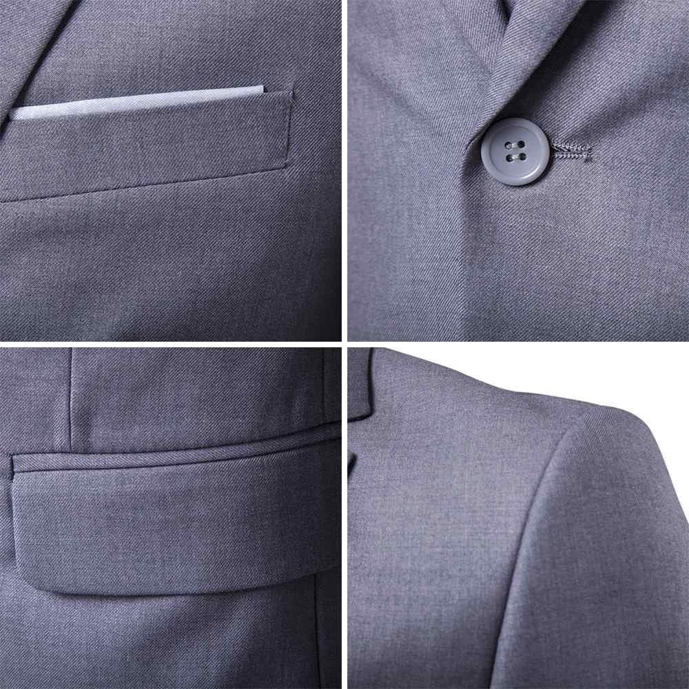 DIHOPE mannen Mode Slanke Pakken Business Casual Kleding Stalknecht driedelig Pak Blazers Jas Broek Broek Vest Sets