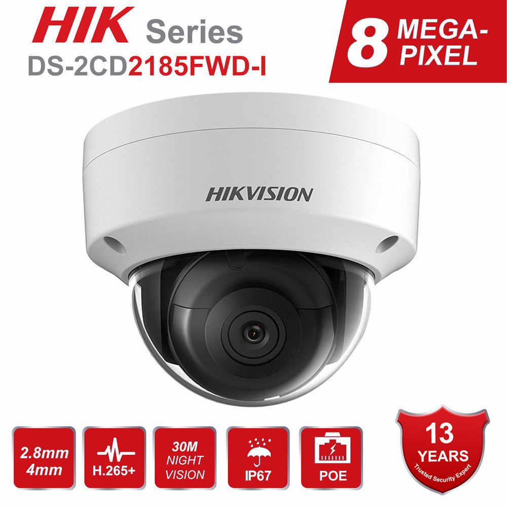 Hikvision 8MP Poe Ip Camera DS-2CD2185FWD-I Outdoor 4K Network Dome Beveiliging Cctv Camera Sd-kaart 30 M Ir H.265 +